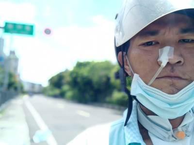 騎車百里復健 郭大哥:期待有一天能回去工作